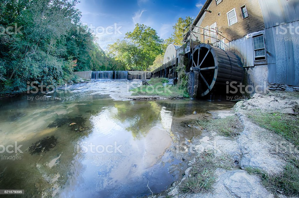 linney's mill on a sunny day stock photo