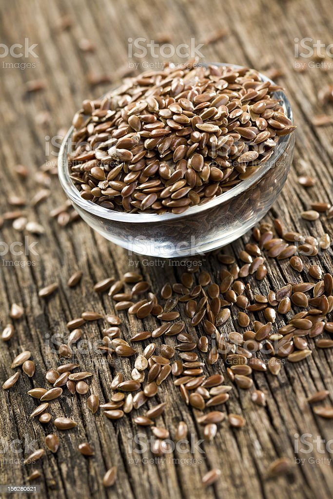 linseed in bowl royalty-free stock photo