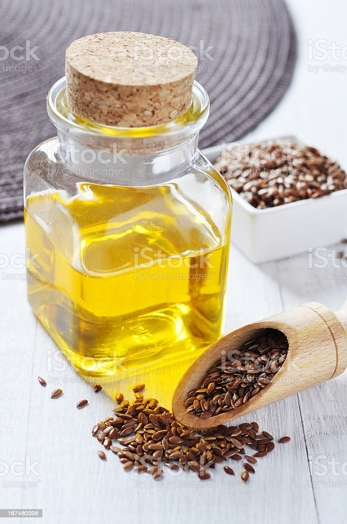 Linseed oil royalty-free stock photo