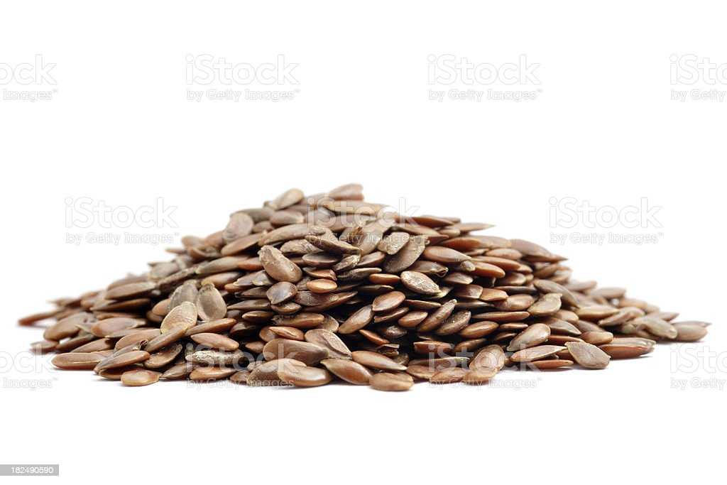 Linseed Pile stock photo