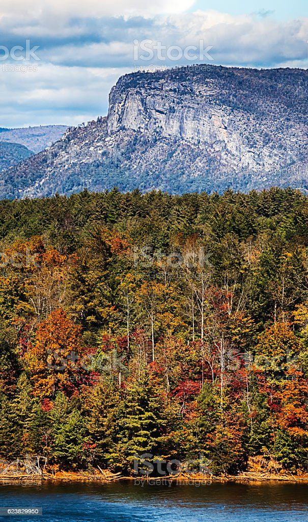 Linville Gorge And Lake James In North Carolina. stock photo