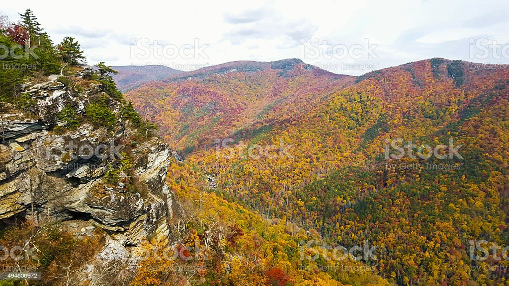 Linville Gorge In North Carolina stock photo
