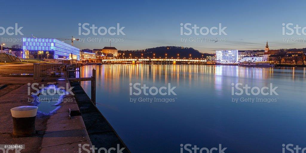 Linz at Night stock photo