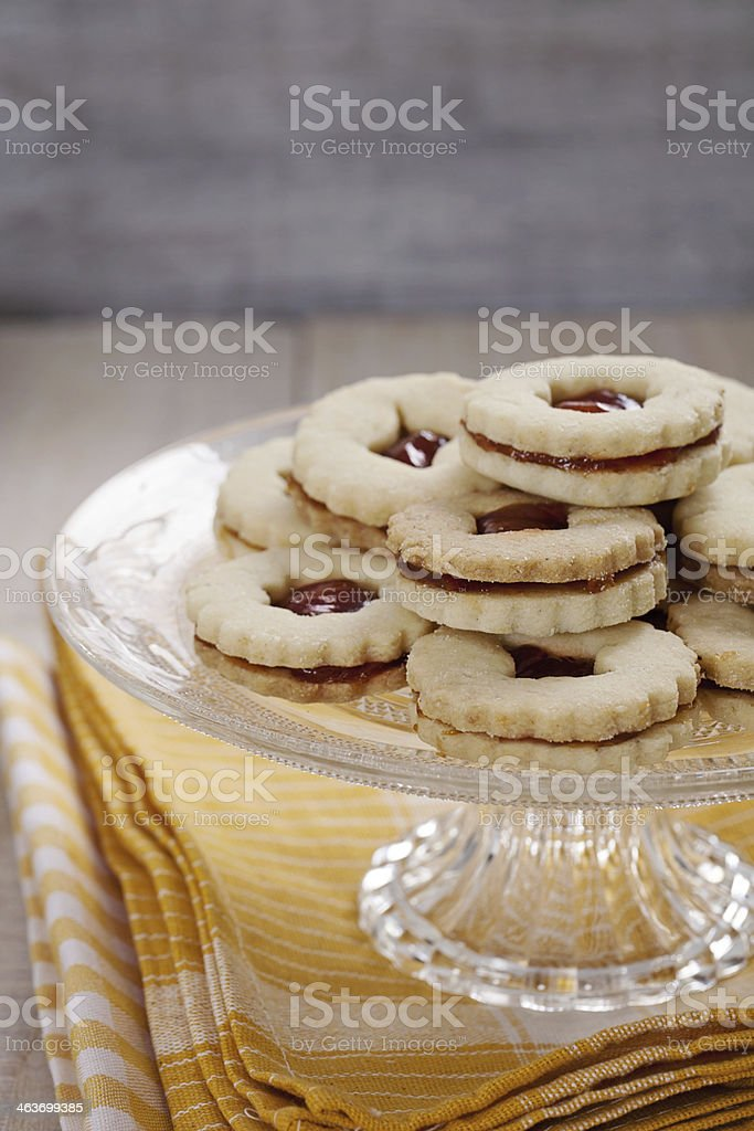Linzer cookies royalty-free stock photo