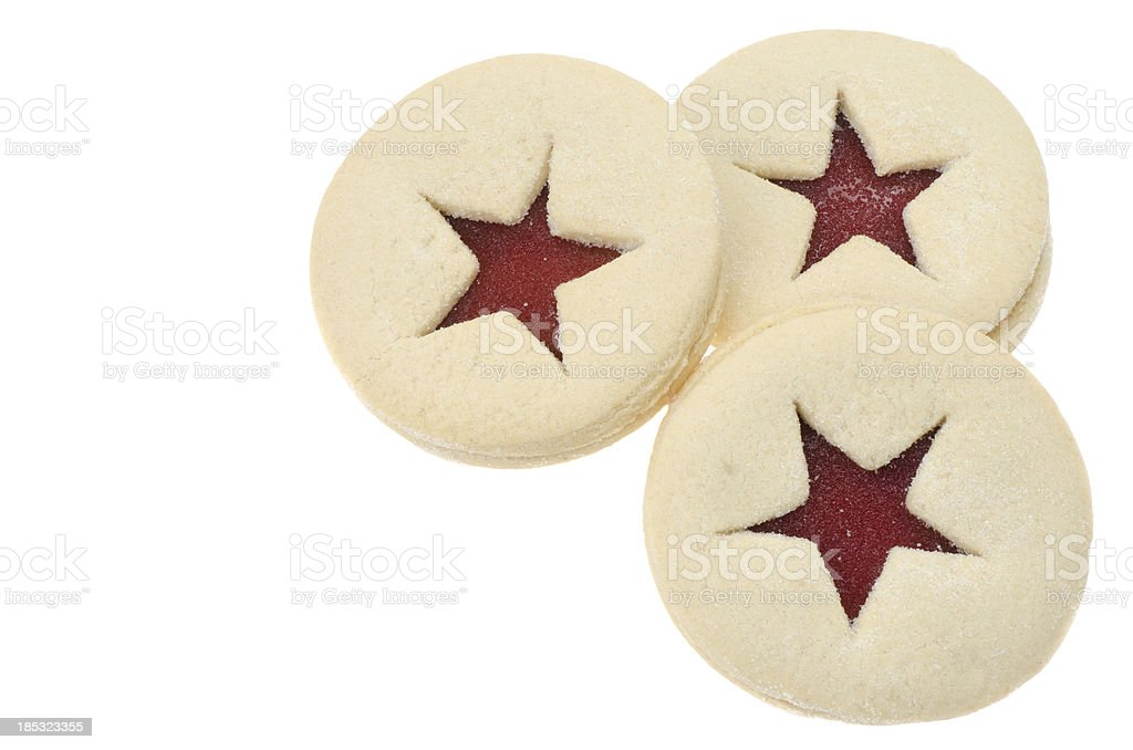 Linzer tart shortbread cookie royalty-free stock photo