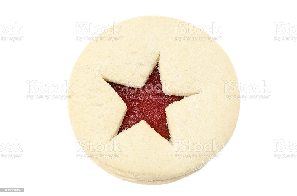 Linzer tart shortbread cookie stock photo