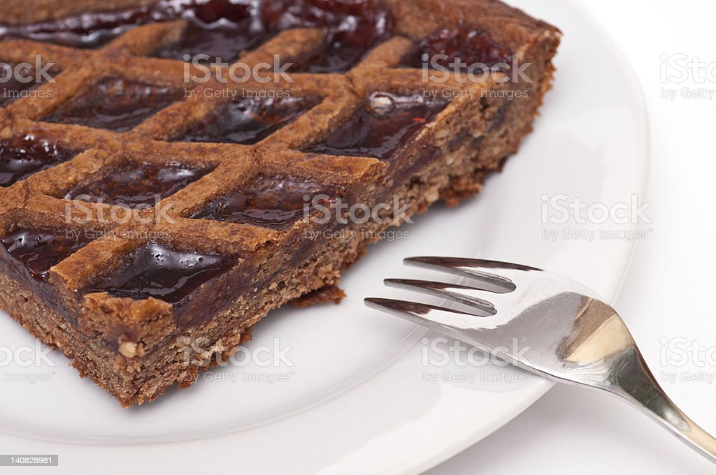 Linzer tarte stock photo