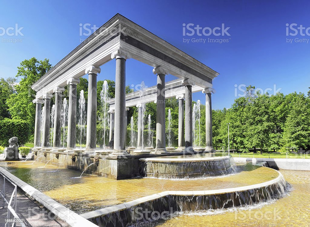 Lion Cascade in Pertergof, Saint-Petersburg. royalty-free stock photo