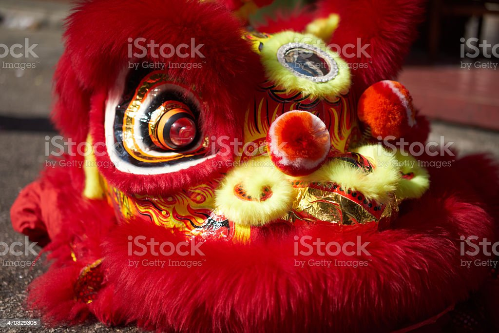 Lion Dance Head stock photo