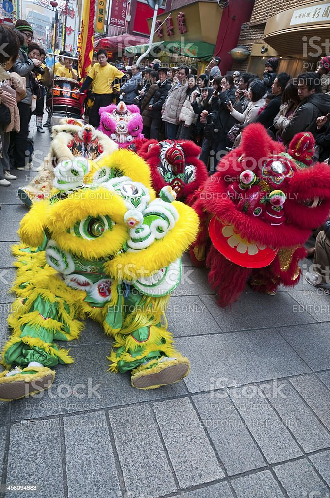 Lion dance royalty-free stock photo