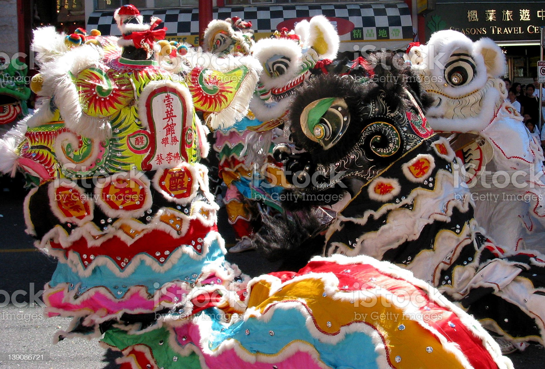 Lion Dancers royalty-free stock photo