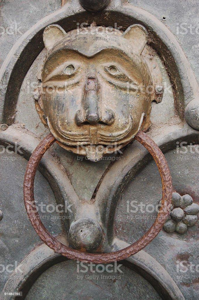 Lion door knocker,  Venice royalty-free stock photo