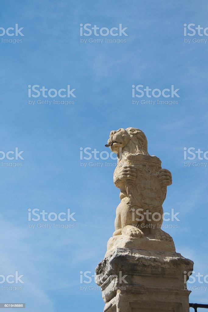 Lion Emblem symbol at Segovia stock photo