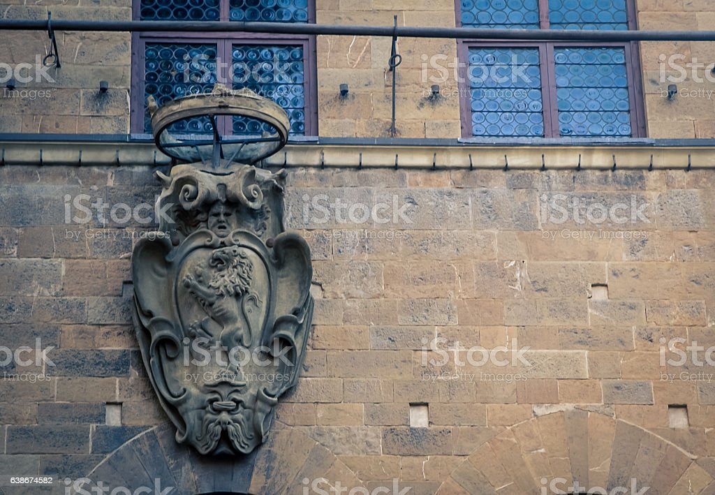 lion florence italy stock photo