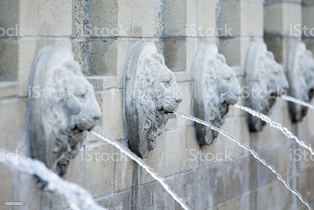 Lion Fountain stock photo