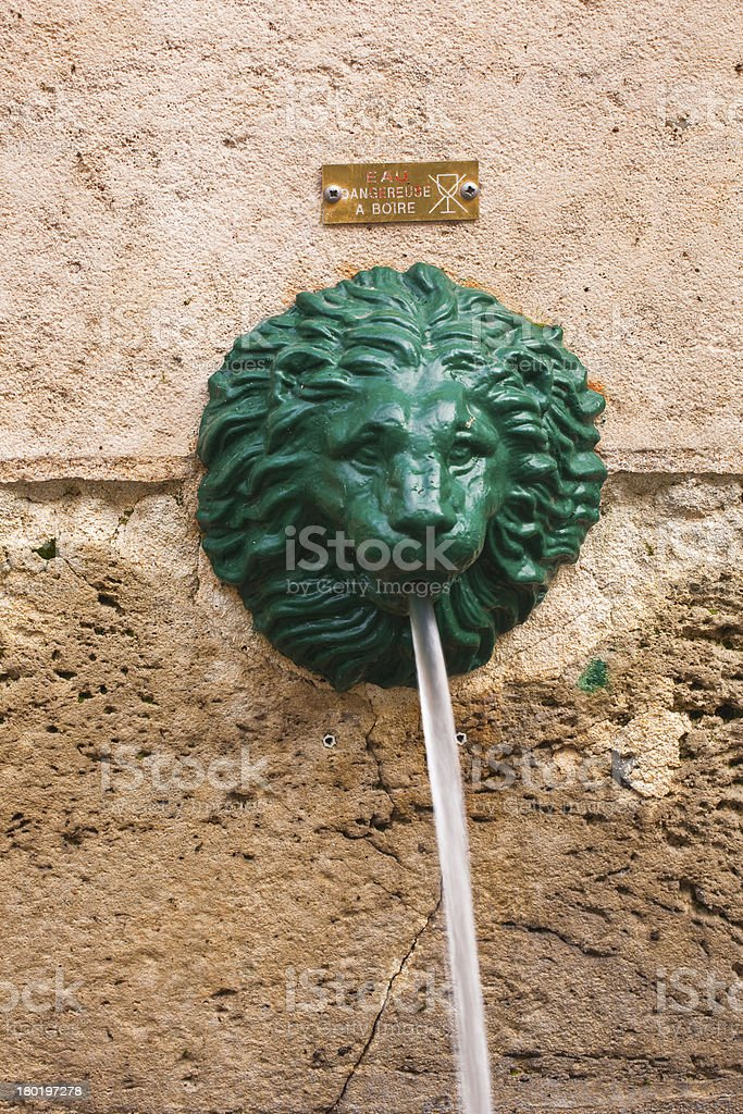 Lion fountain royalty-free stock photo