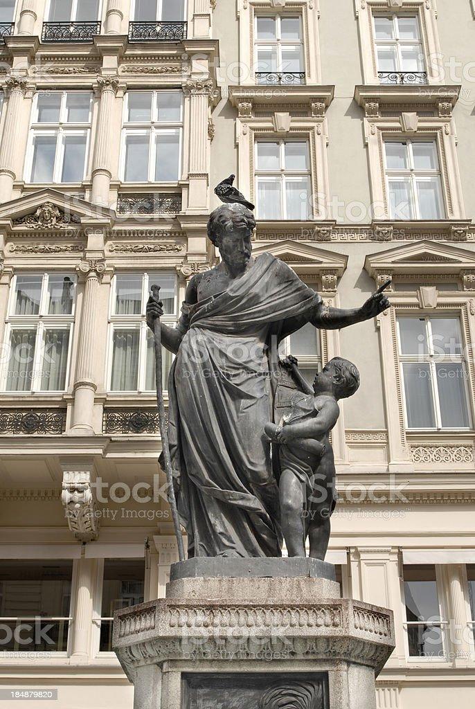 Lion fountain (Löwenbrunnen), Vienna royalty-free stock photo