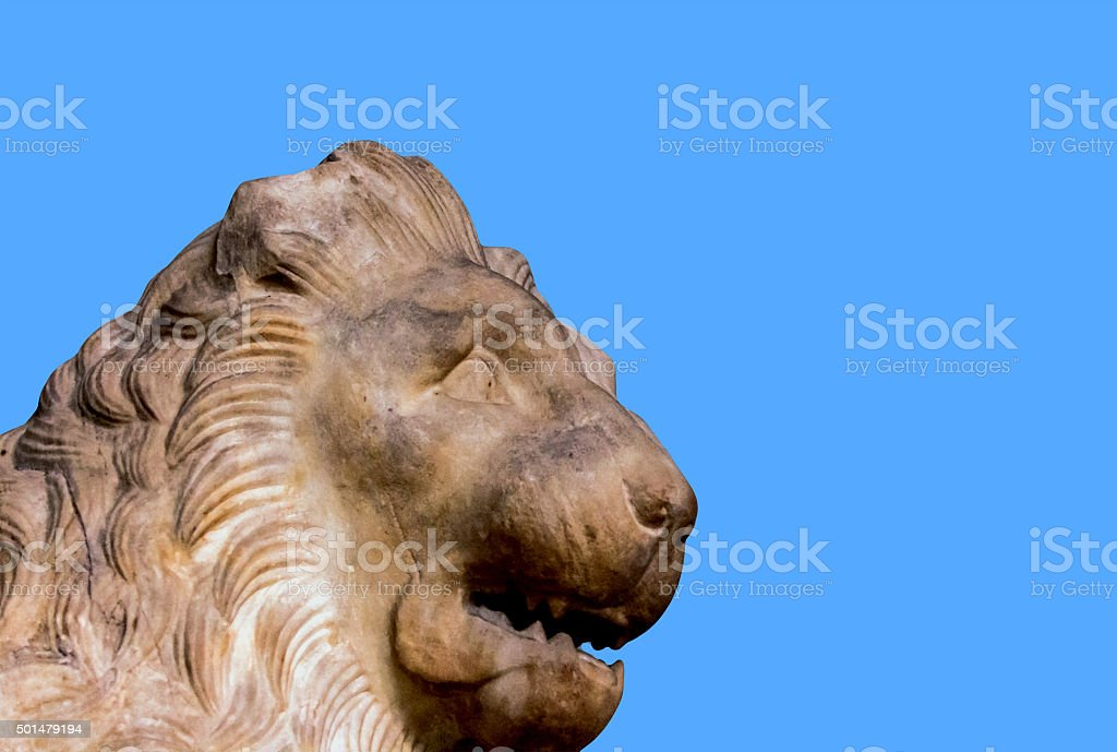 Lion from Mausoleum of Halicarnassus stock photo