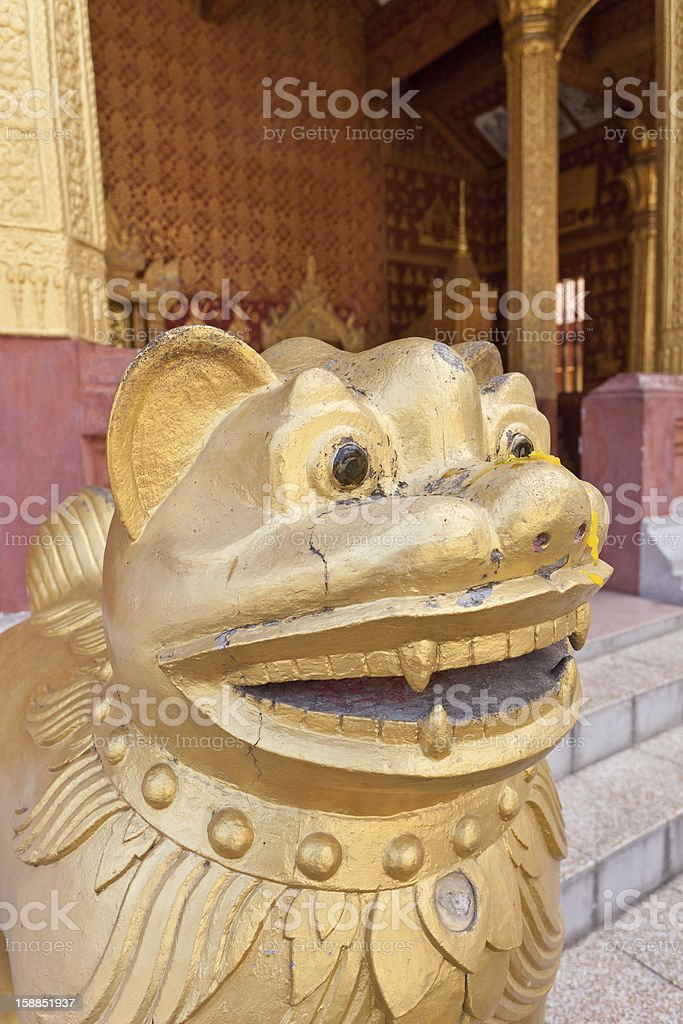Lion From Outside A Buddhist Temple stock photo