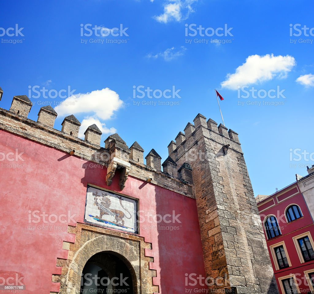 Lion Gate in Seville stock photo