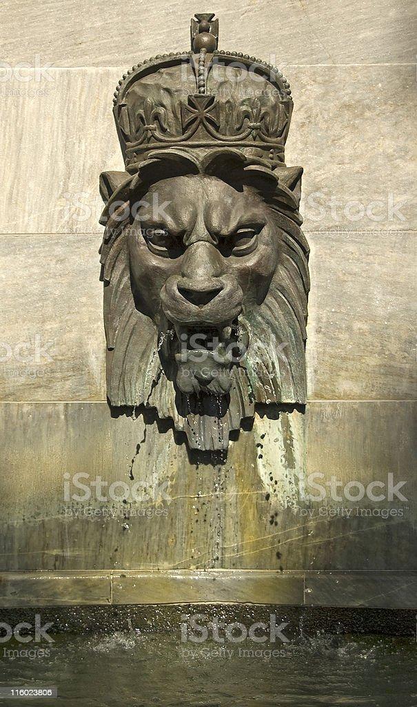 Lion Head Fountain 2 royalty-free stock photo