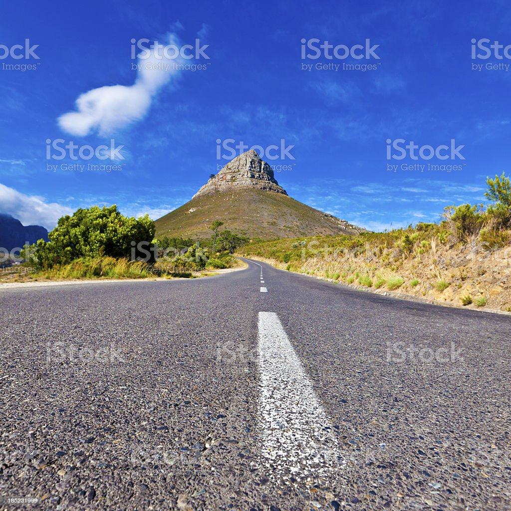 Lion Head in Cape Town royalty-free stock photo