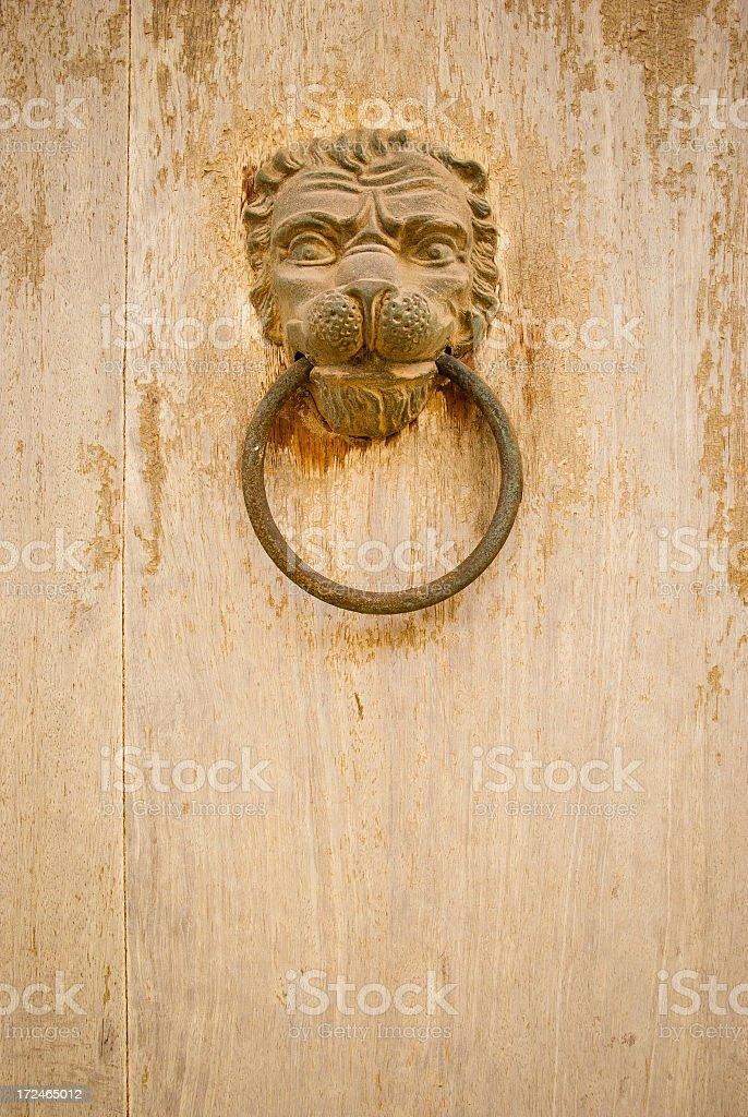 Lion Head Knocker royalty-free stock photo