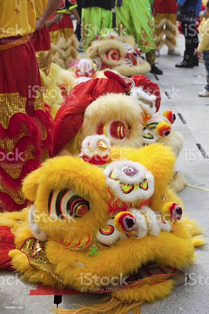 Lion heads stock photo