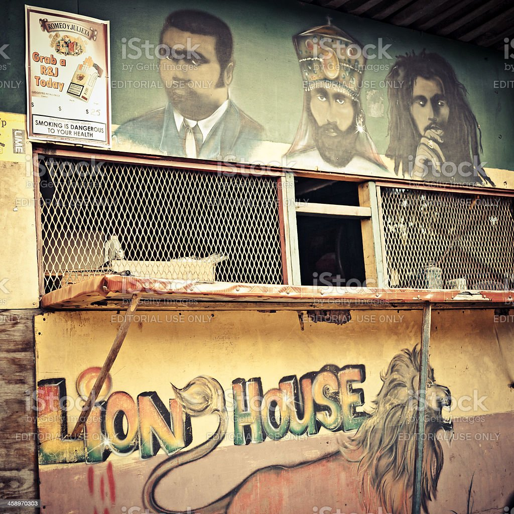Lion House. stock photo
