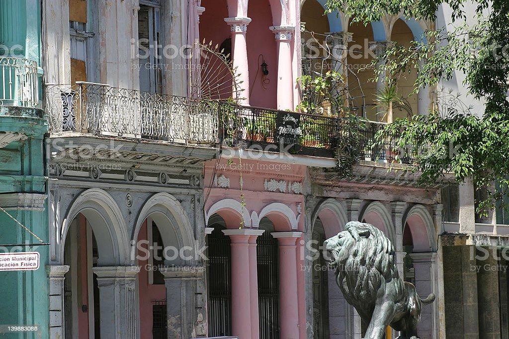 Lion in Paseo del Prada Havana stock photo