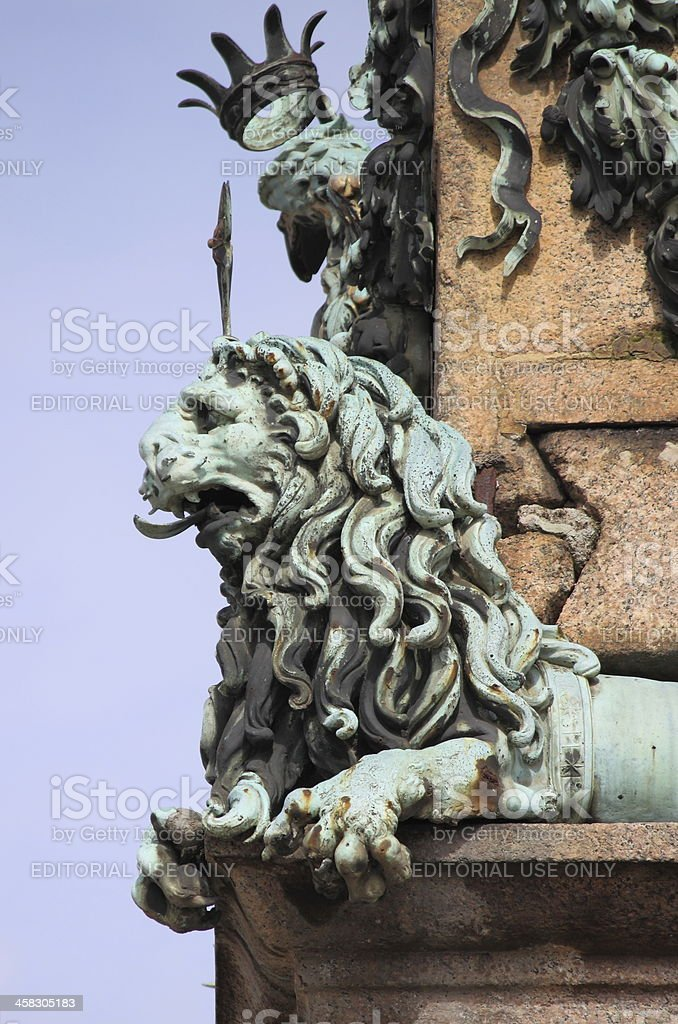 Lion in Vatican royalty-free stock photo