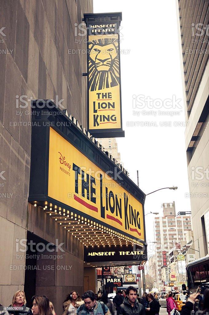 Lion King on Broadway royalty-free stock photo