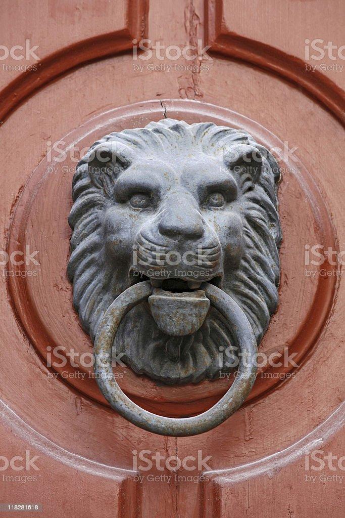 lion knocker stock photo