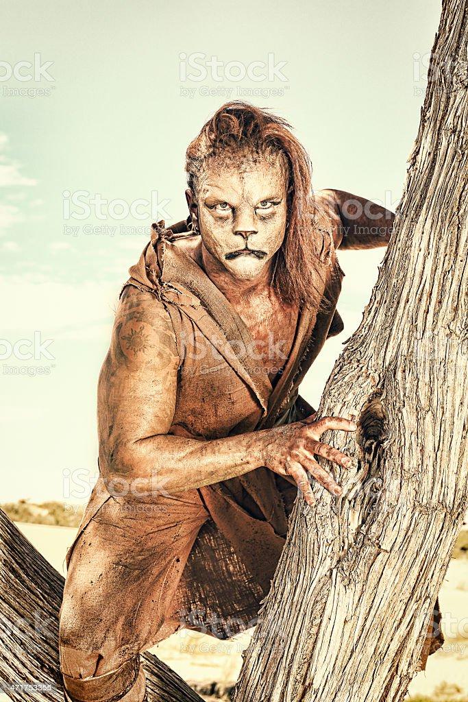 Lion Man stock photo
