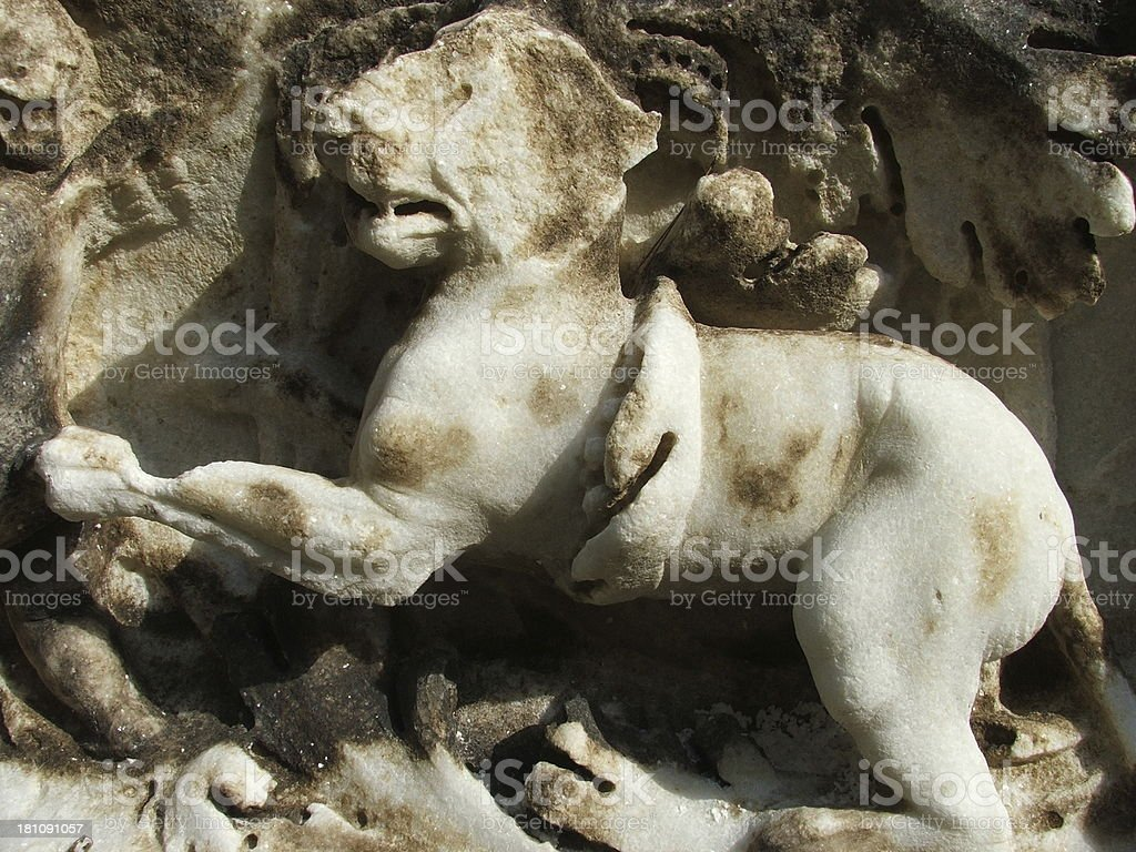 Lion marble royalty-free stock photo