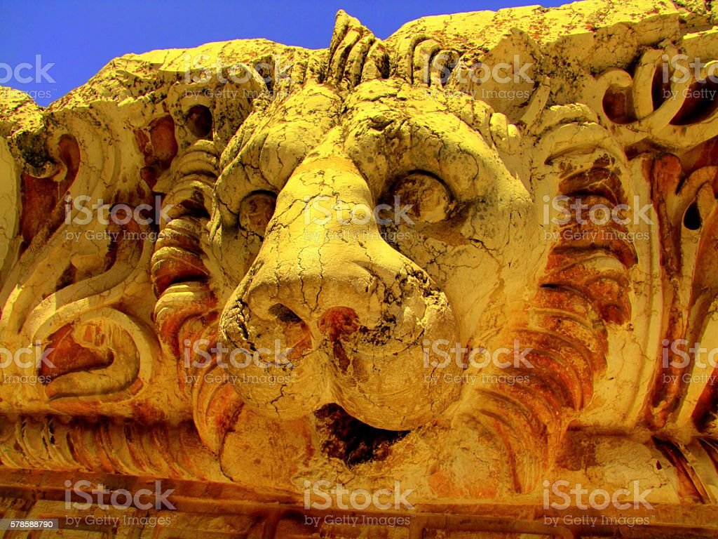 Lion of Baalbek. Lebanon stock photo