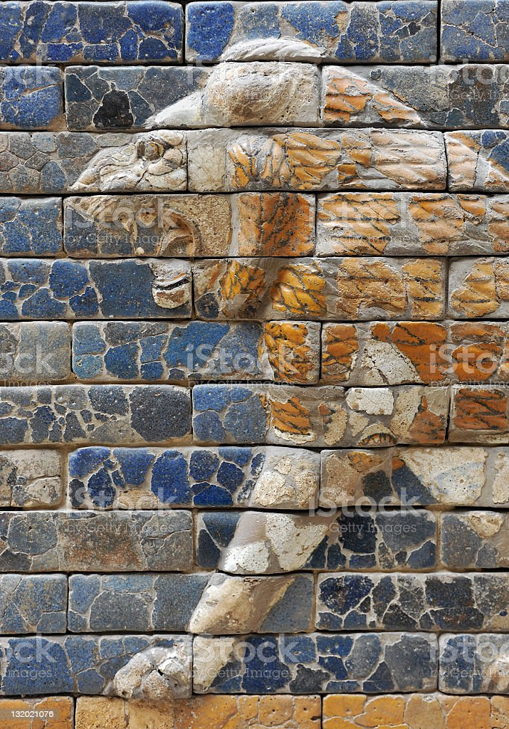 Lion of Babylon stock photo