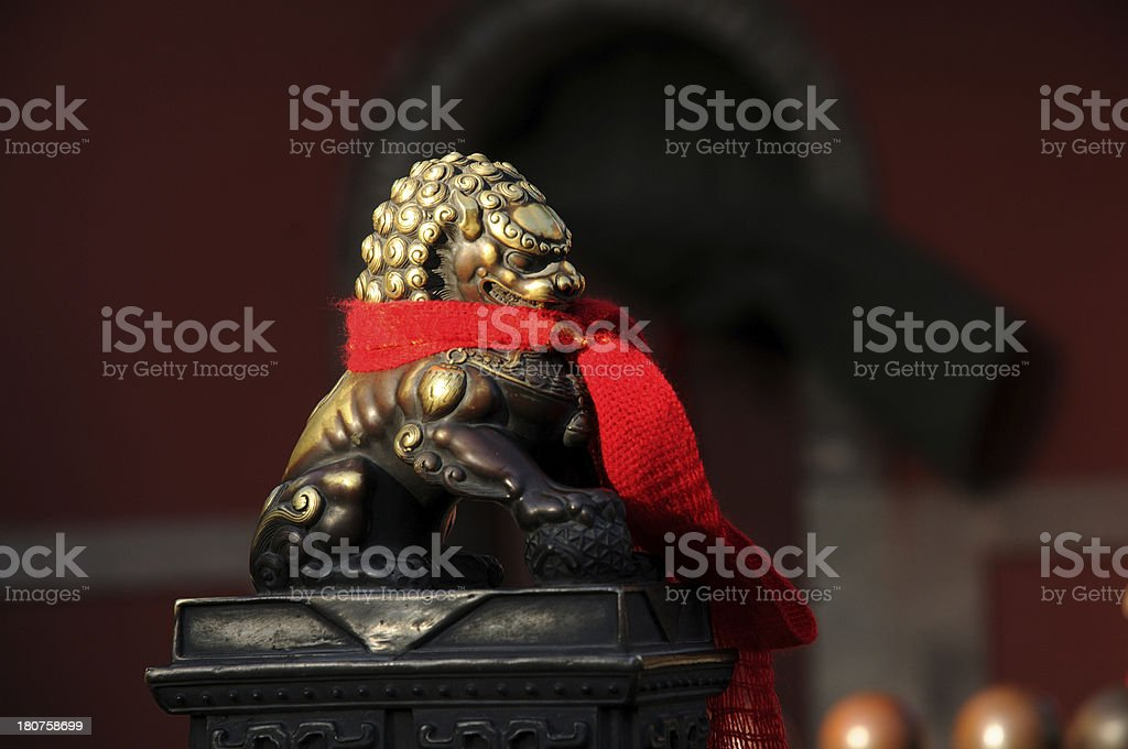 Lion of copper royalty-free stock photo