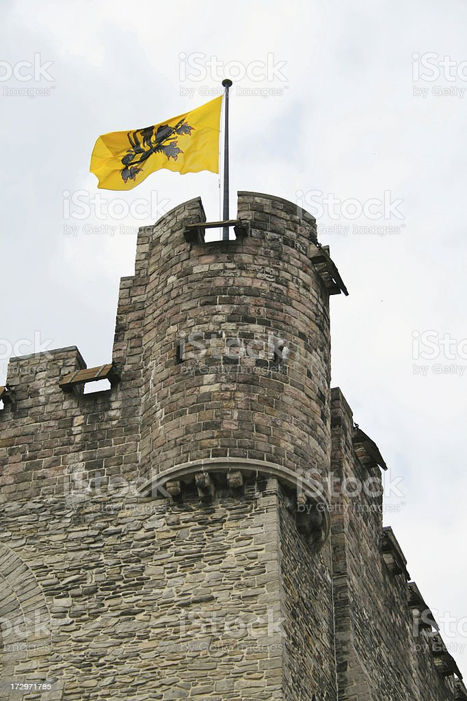 Lion of Flanders stock photo