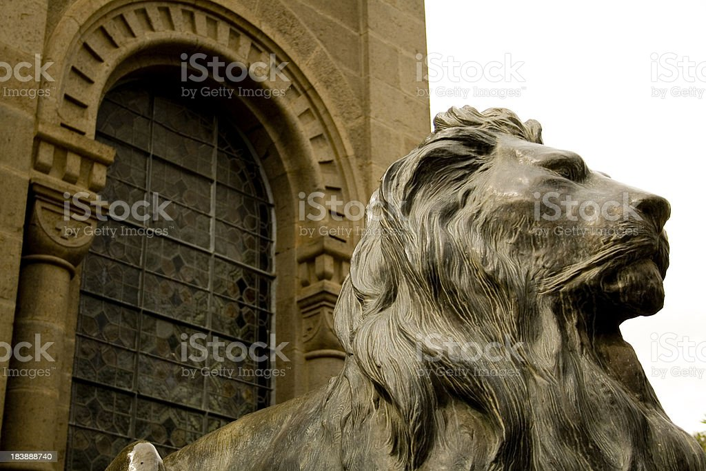 Lion of Judah, Addis Abeba stock photo