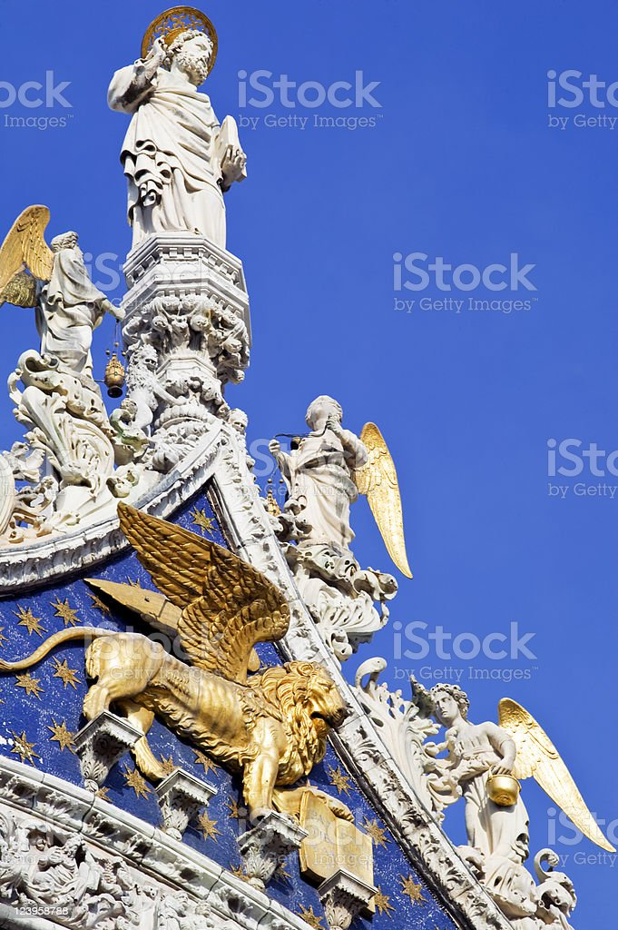 Lion of St. Mark's Basilica royalty-free stock photo