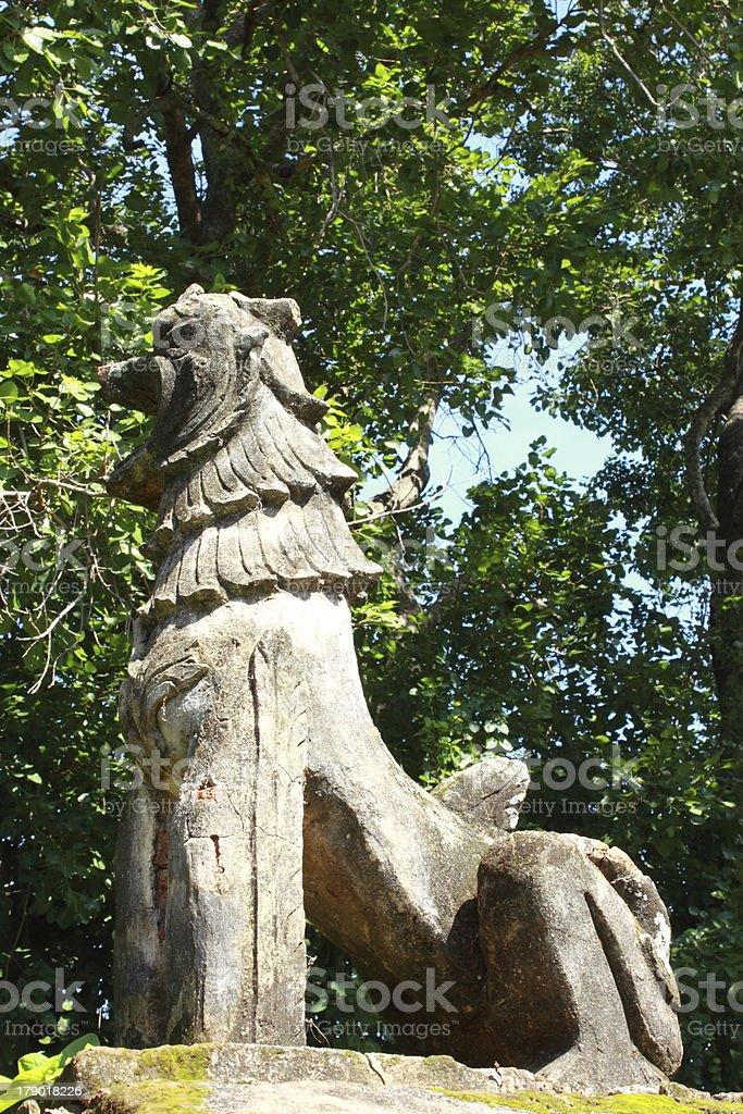 Lion  of  Wat wang mu,Thailand. royalty-free stock photo