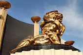 MGM Lion on the Strip in Las Vegas