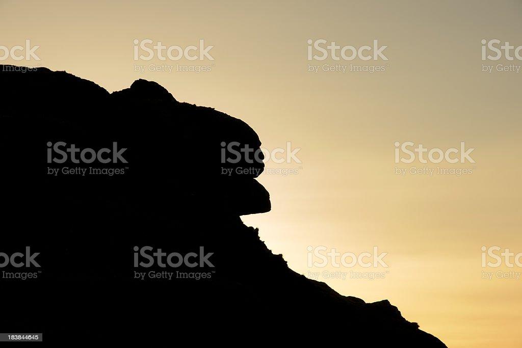 Lion Rock at sunset on Dartmoor stock photo