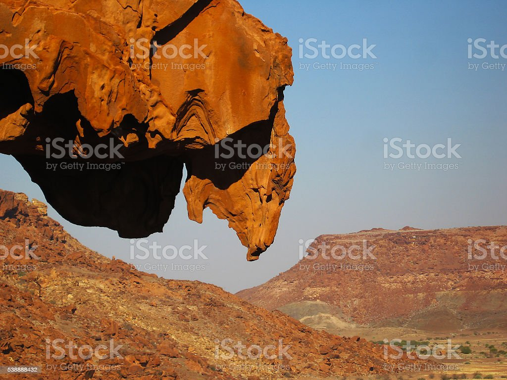 Lion Rock, Namibia stock photo