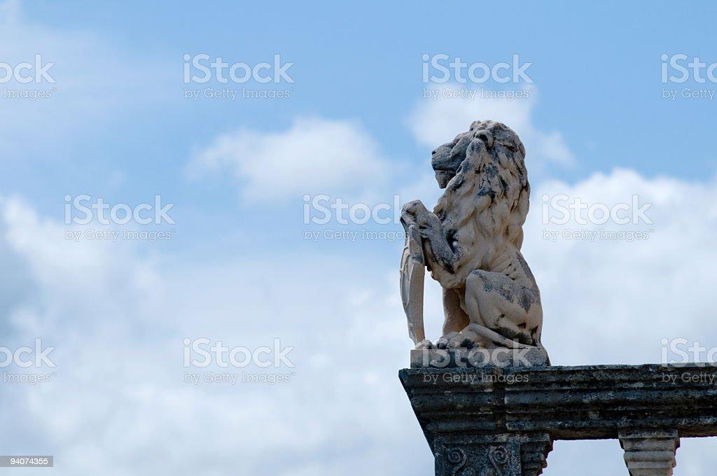 Scultura di leone foto stock royalty-free