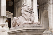 Lion statue at the New York Public Library