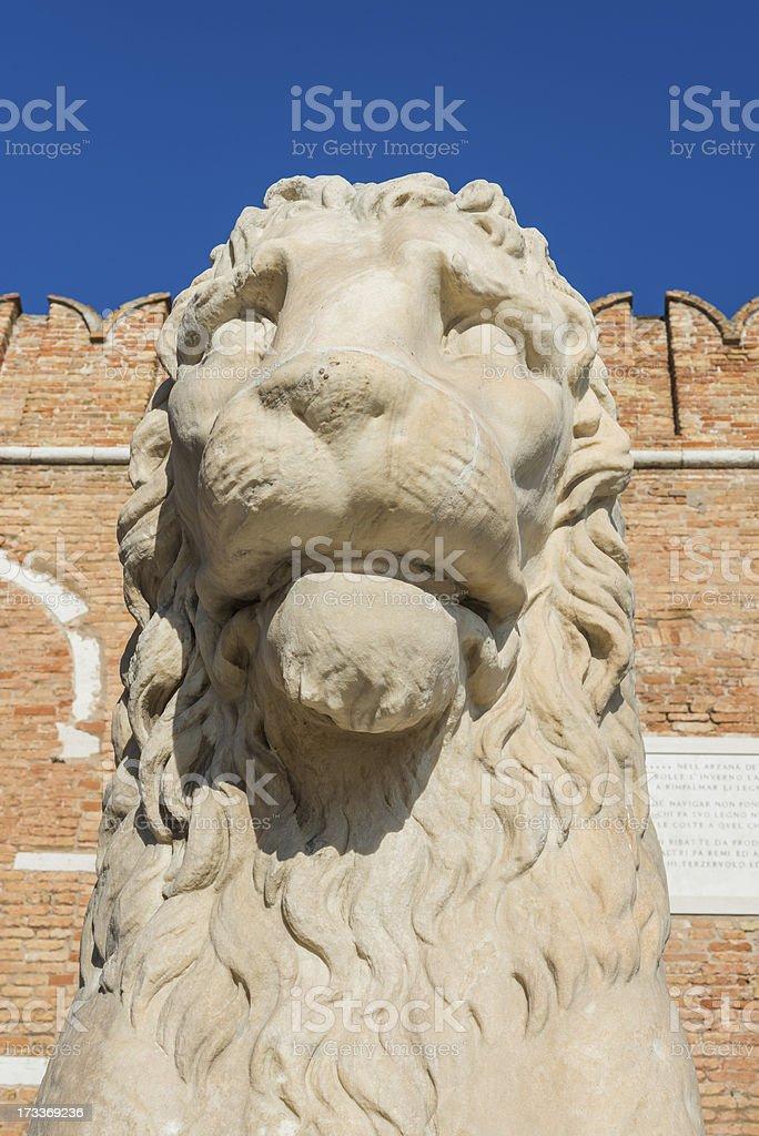 Lion statue in Venice stock photo