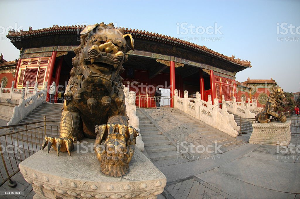 lion statue royalty-free stock photo