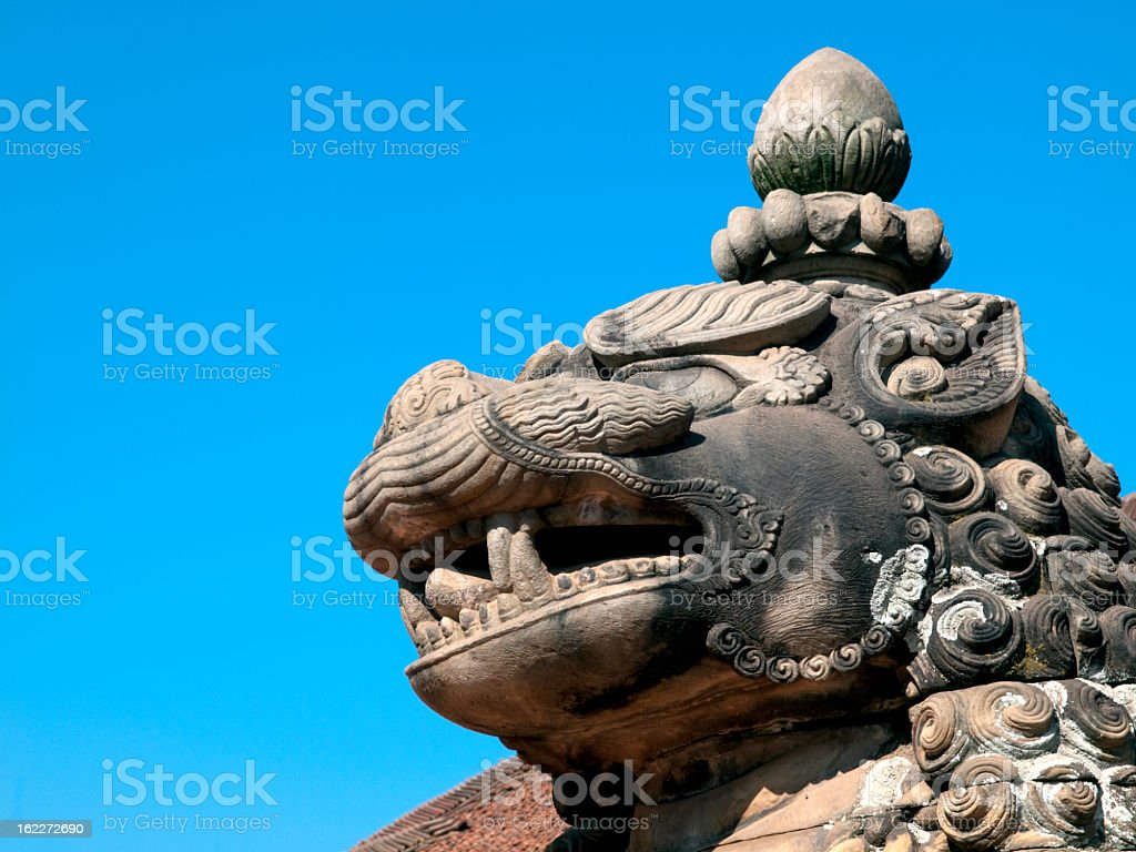 Lion statue. royalty-free stock photo